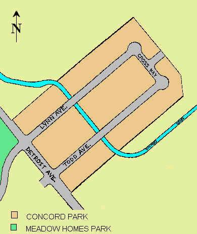 Map of Concord Park